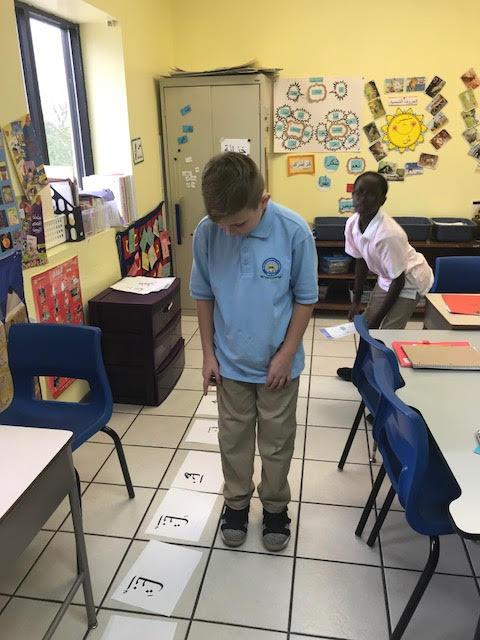 Kaleb plays Arabic game