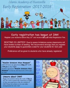 Early Registration @ Islamic Academy of Huntsville