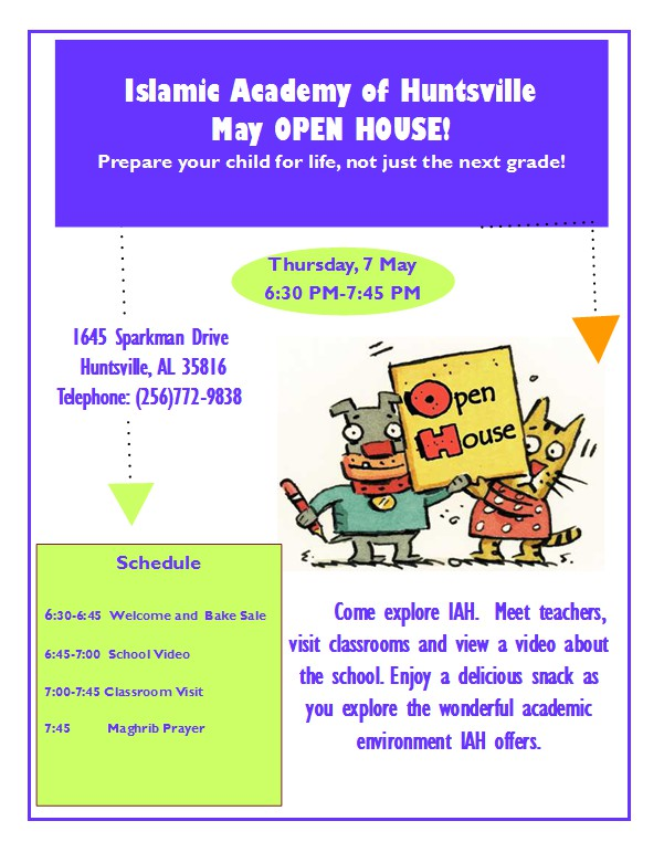 IAH Open House Flyer  May 2015